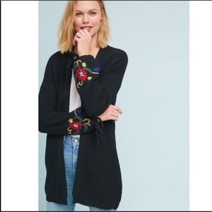 Anthropologie | Mandy Floral Embroidered Cardigan